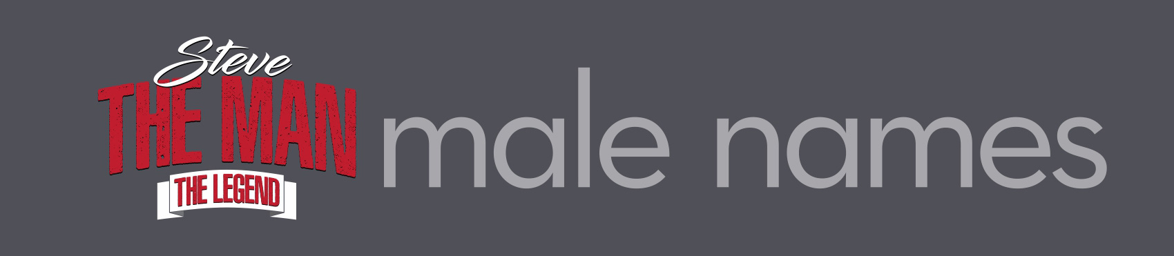 Male Names logo ideas