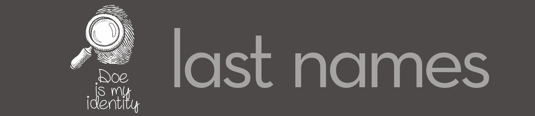 Last Names logo ideas